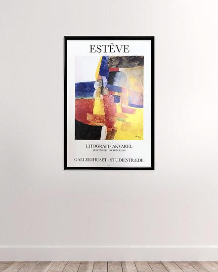 Maurice Estève - Galleri studiestræde 1988