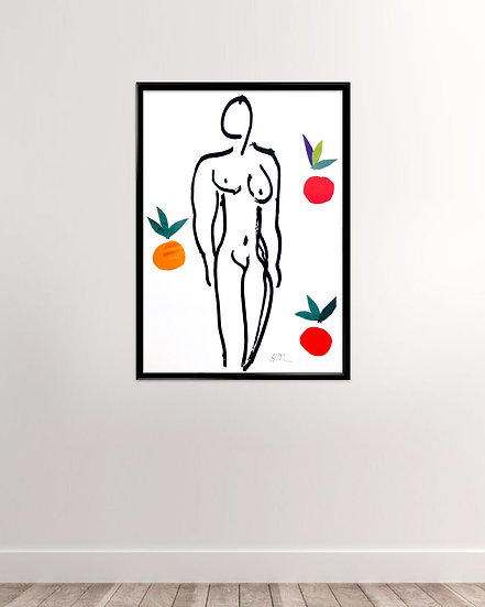 Henri Matisse - Naked with fruits