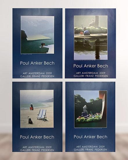 4 motiver af Poul Anker Bech plakat 2009 - Galleri Franz Pedersen.