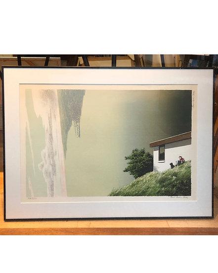 (solgt) Poul Anker Bech - stort litografi