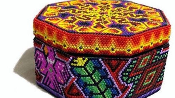 Aleya Huichol - Caja Hexagonal Grande
