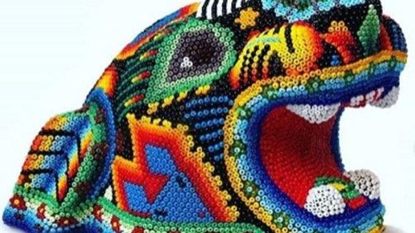 Aleya Huichol - Cabeza de Jaguar Chica