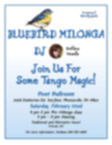 Bluebird Milonga, Feb 22nd 2020, Svetlana Howells, Pivot Ballro om, Argentine Tango, Adult Dance Class