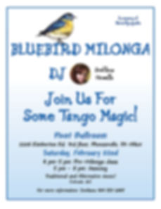 Bluebird Milonga, Feb 22nd 2020, Svetlana Howells, Pivot Ballroom, Argentine Tango, Adult Dance Class