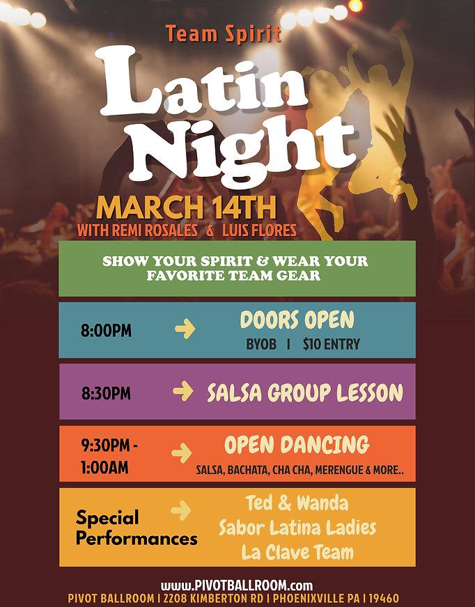 Latin Night in Phoenixville, 2208 Kimberton Rd Phoenxiville Pa 19460, Remi Rosales, Luis Flores, Latin Dancing, Salsa Dance, Bachata Dance, Merengue Dance,Cha Cha Dancing