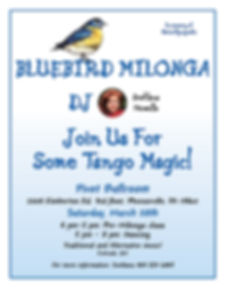 Bluebird Milonga, March 28th 2020, Svetlana Howells, Pivot Ballroom, Argentine Tango, Adult Dance Class