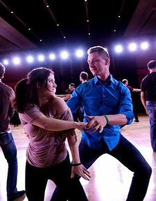 Couple Dancing West Coast Swing Pivot Ballroomd.