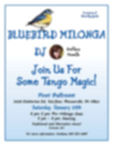 Bluebird Milonga, Jan 25th 2020, Svetlana Howells, Pivot Ballro om, Argentine Tango, Adult Dance Class