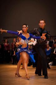 Christabel Fernandez Latin Dancer Blue