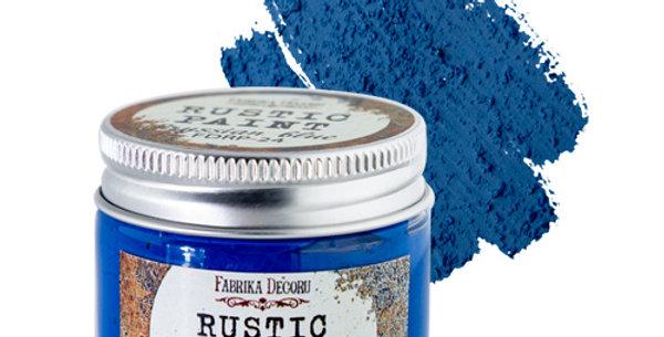 Rustic paint Prussian blue