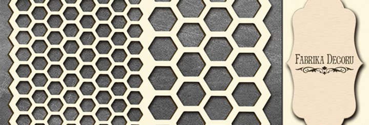 Set of chipboards. Honeycomb