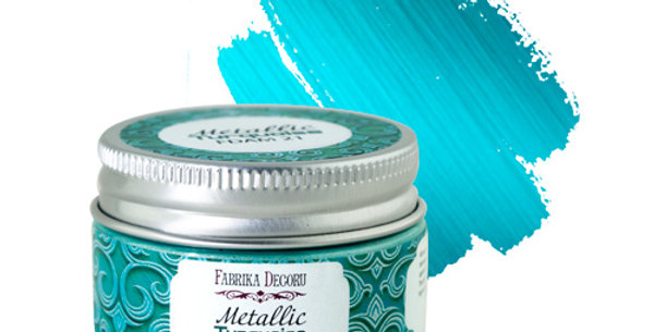Metallic paint. Color Turquoise