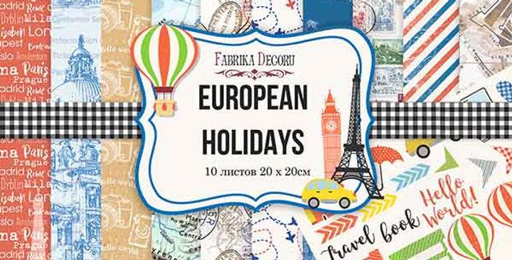 "European Holidays 8""x8"" paper pad"
