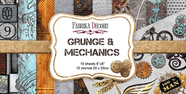 "Grunge & Mechanics 8""x8"" paper pad"