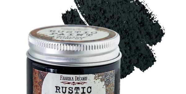 Rustic paint. Charcoal