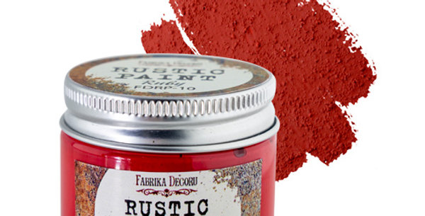 Rustic paint. Ruby