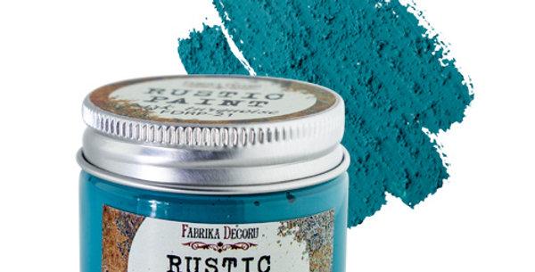 Rustic paint. Dark turquoise