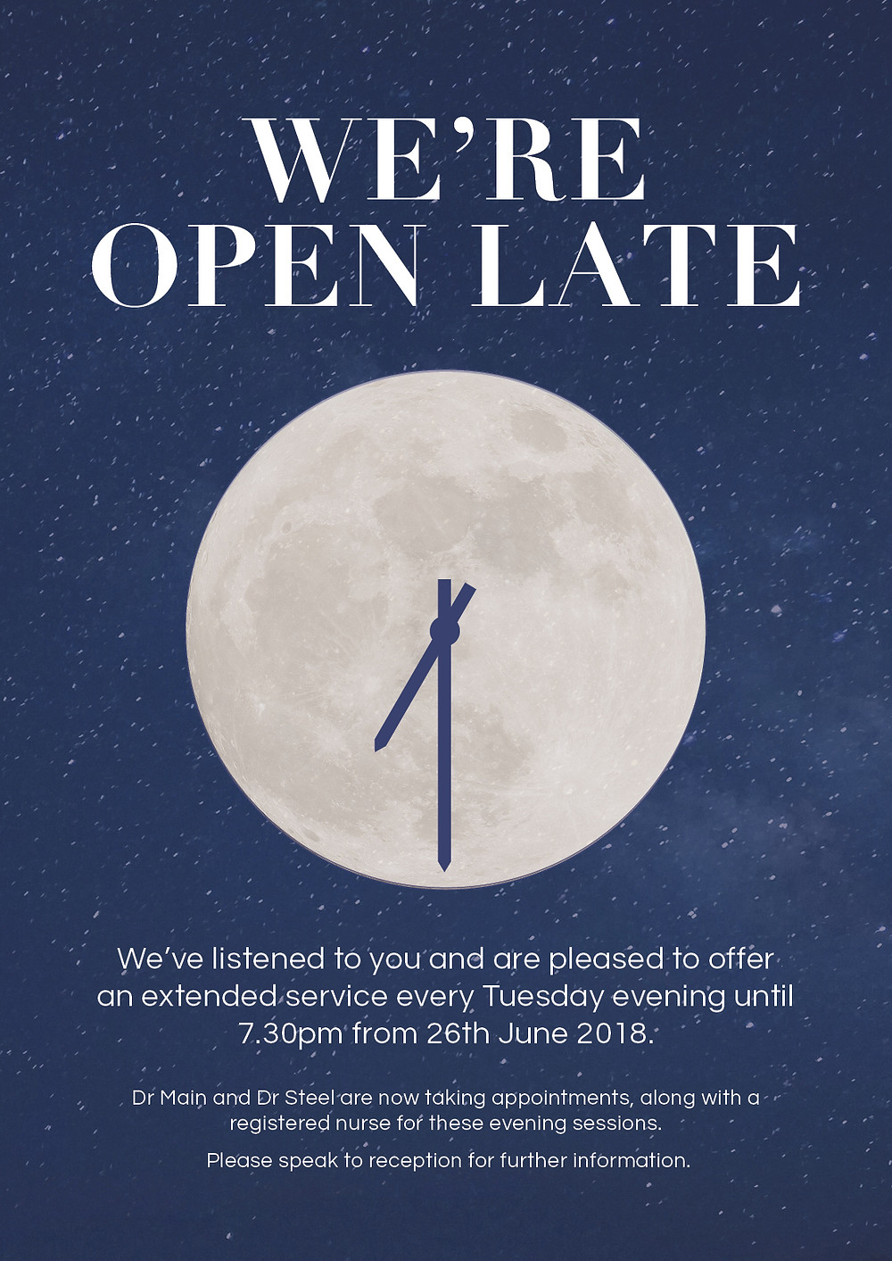 We're Now Open Late