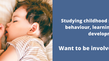 Childhood sleep study - want to be involved?