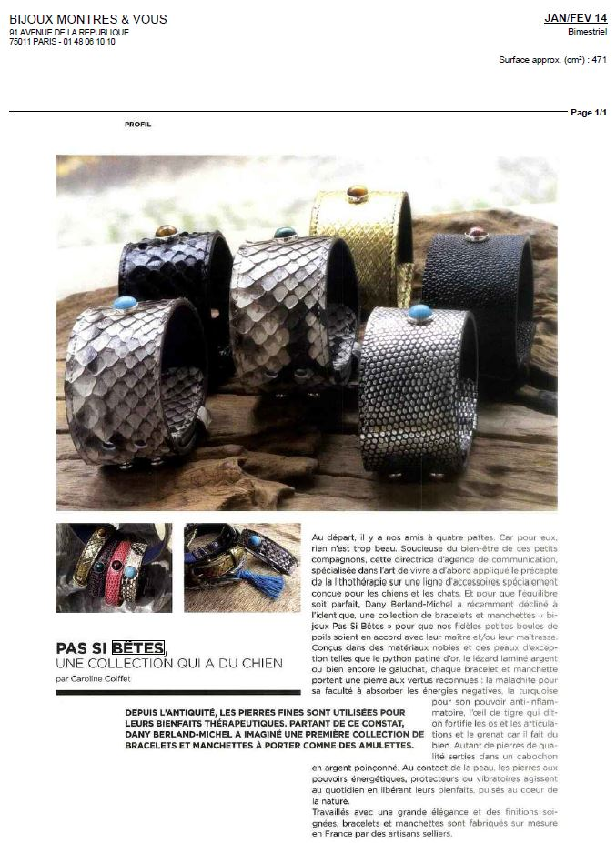 Bijoux Montres et Vous - Pets and Stones
