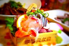 「炙バール明」のおすすめの「トロ箱大漁刺身盛り」