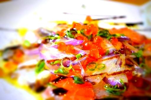 サーモンと鮮魚のカルパッチョ