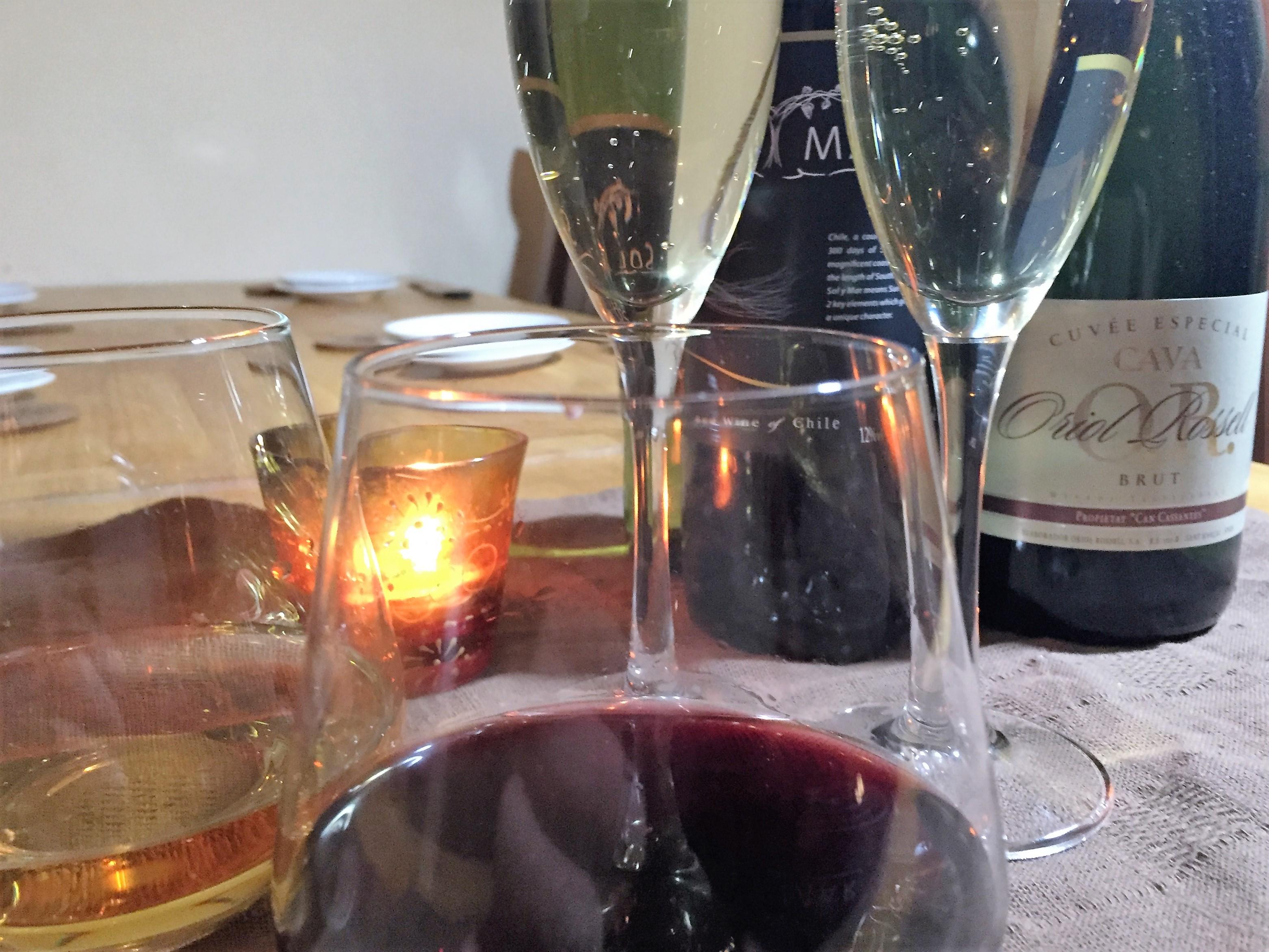 大人バル飲みスパークリングワイン