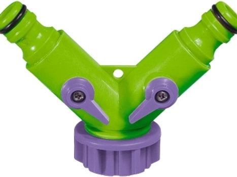 Διαχωριστής βρύσης θηλυκός Palisad με 2 βάνες (πλαστικό)