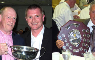 IAIN AND DON THE AWARD WINNERS AT FORMER PLAYERS' ANNUAL DINNER