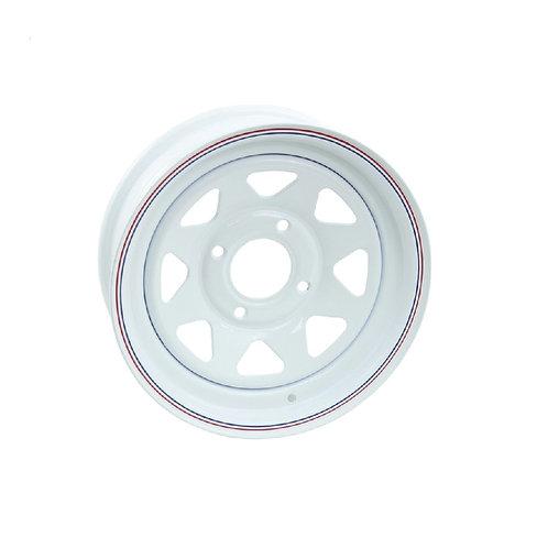 15x6 white wheel 4x130