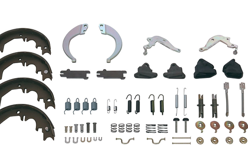 Hand Brake Shoes w Fitting Kit suitable for 70 to 80 Series & Prado 95