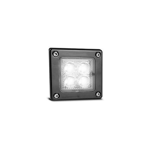 LED Autolamps Work Lamp Square Flood Beam 12V (4 LED) 3W