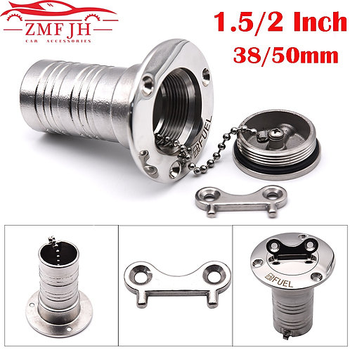 """1.5"""" and 2"""" 38mm or 50mm 316 Stainless Steel Fuel Cap for Buggies"""