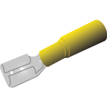 F/Blade Terminal with heat shrink installed (Yellow)