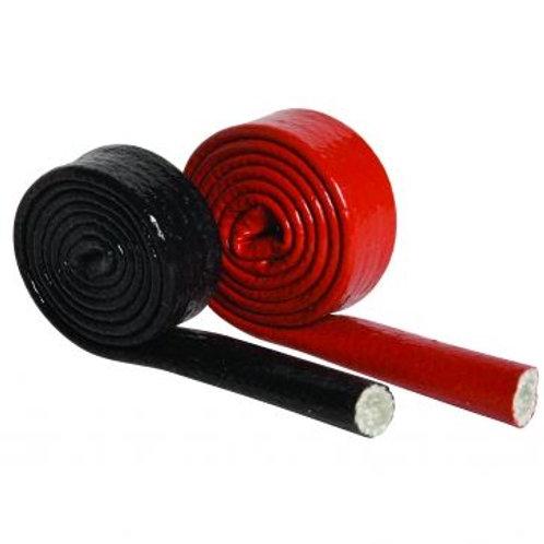Fiberglass Silicone Coated Firesleeve/Heatsleeve (500mm) 19mm Black