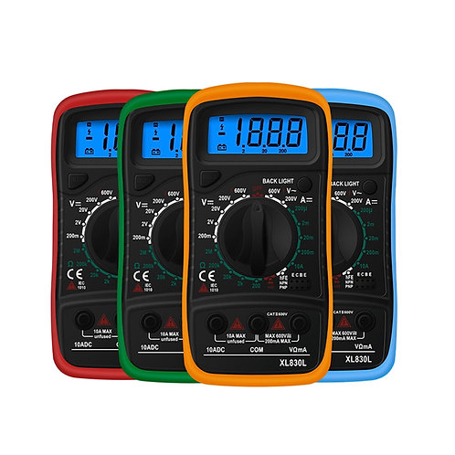 Handheld Digital Multimeter LCD Backlight Portable AC/DC Ammeter Voltmeter Ohm