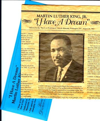 """I Have A Dream"" Parchment w/ Envelope"