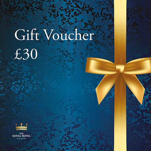 The Royal Hotel Gift Voucher £30