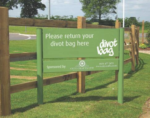 Divot Bag Signage