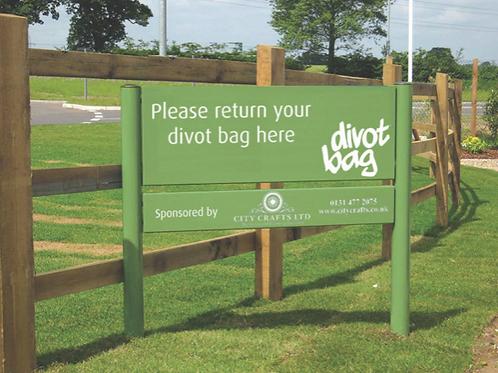 Bespoke Divot Bag Signage
