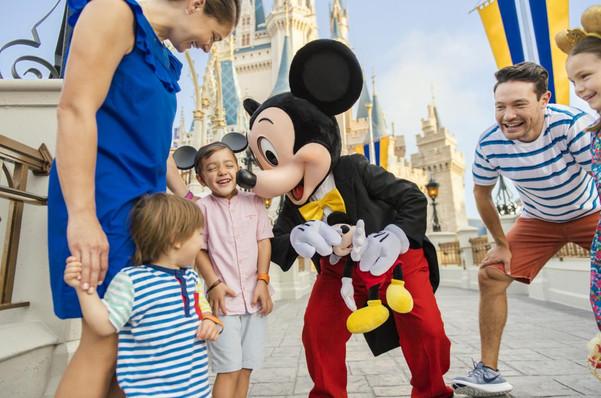 mickie sticking his nose in kids face -