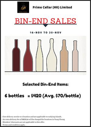 Bin End 6-Bottle Pack