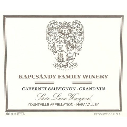 *2015 Kapcsandy State Lane Vineyard Cabernet Sauvignon - Grand Vin