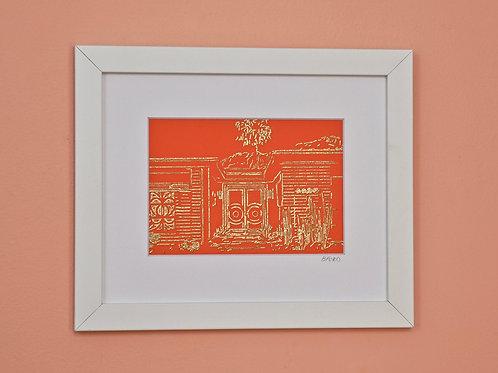Orange & Gold House