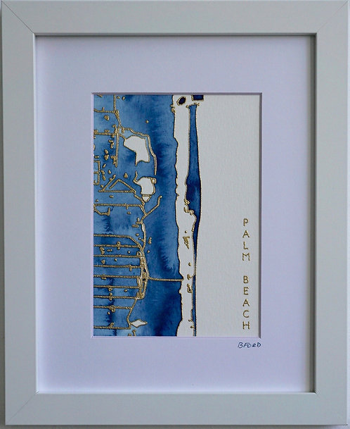Palm Beach Topographic Watercolor