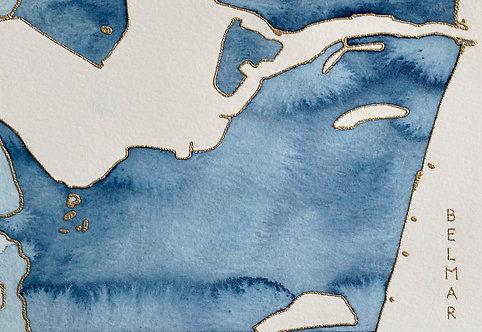 Belmar Watercolor Map