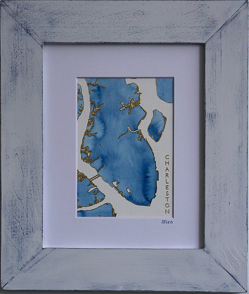 Charleston Topographic Watercolor