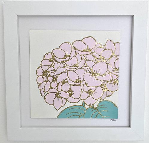 Hydrangea Square - Pink
