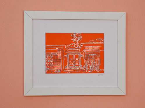 Orange & Silver House