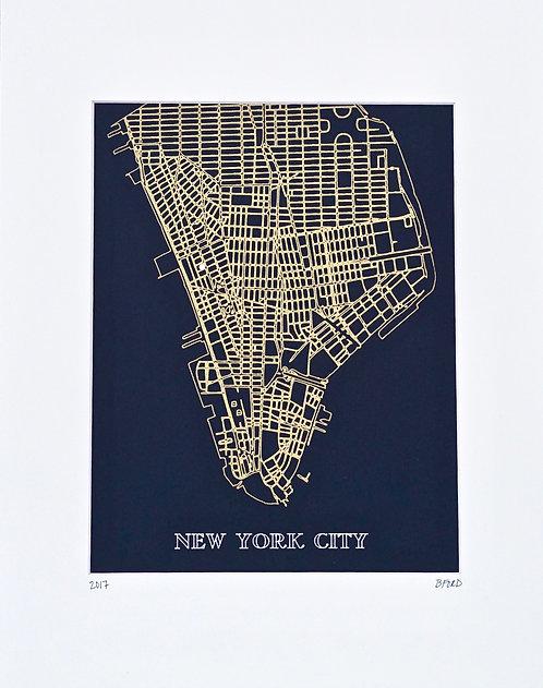 Manhattan Street Map